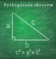 triangle on the blackboard pythagorean theorem vector image