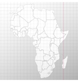 Africa map in a cage on white background vector image