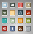 Colored web buttons retro style template vector image
