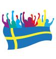Sweden fans vector image vector image