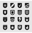 Set Emblems Shield vector image