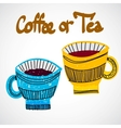 Doodle cups vector image