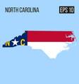 north carolina map border with flag eps10 vector image