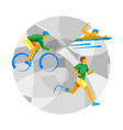 triathlon for physically disabled people vector image
