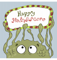 Card for halloween with monster vector image