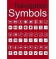 Navigation Symbols Set vector image