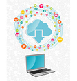 Cloud computing network concept vector image