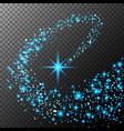Abstract bright falling star - christmas star - vector image