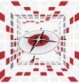 compass scene vector image vector image