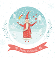 Santa Claus greeting card vector image vector image