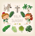 Palm Sunday design elements vector image