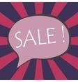 sale wording in comic bubble speech vector image