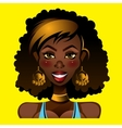 Portrait of a beautiful african female vector image
