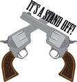Its A Stand Off vector image