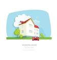 Modern home facade contemporary house traditional vector image