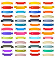 Colorful Retro Ribbons Labels Set Isolated on vector image