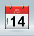 flag day calendar vector image