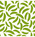 green pea pods seamless pattern vector image