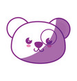 kawaii panda bear icon vector image