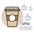line coffee design vector image