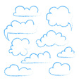 Set of speech bubble Cloud vector image