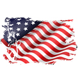 USA flag in the EEUU maps vector image