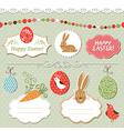 Easter set easter elements vector image