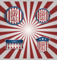 realistic 4th of july banners set vector image