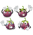 Mangosteen fruits vector image