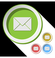 color icons with envelope vector image