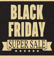 Total sale discount banner retro vintage style vector image