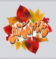 autumn text in graffiti style vector image