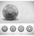 gear wheels cogwheels vector image