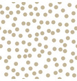 gold dots on white background vector image
