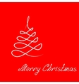 Hand-drawing Christmas tree and lettering vector image