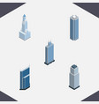 isometric building set of residential business vector image