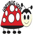 Ladybug Love vector image