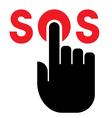 Press SOS button icon vector image