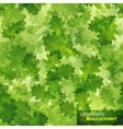 seamless background with green oak leaves vector image