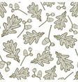 seamless pattern of branches with acorns and oaks vector image