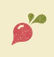 stylized flat icon of a radish vector image