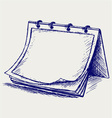 Open notepad vector image