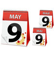 icon calendar for May 9 vector image