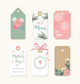 set of romantic mothers day birthday or wedding vector image