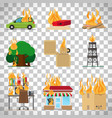 fire safety infographic on transparent background vector image