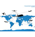airplane travel around the world vector image
