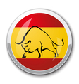 Silhouette of a bull in the national Spanish flag vector image