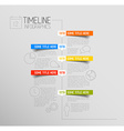 Infographic timeline report template with rounded vector image vector image