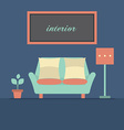 Modern Design Interior Sofa vector image