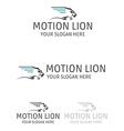motion lion logo design vector image